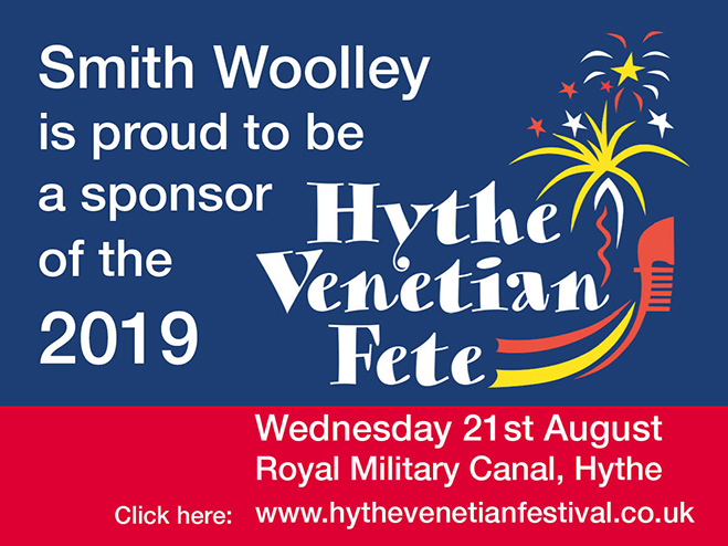 Smith Woolley is proud to be a sponsor of the 2019 Hythe Venetian Fete